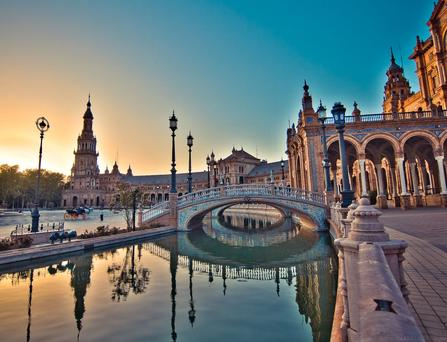 Be sure to visit Plaza España in between your classical guitar lessons in Seville