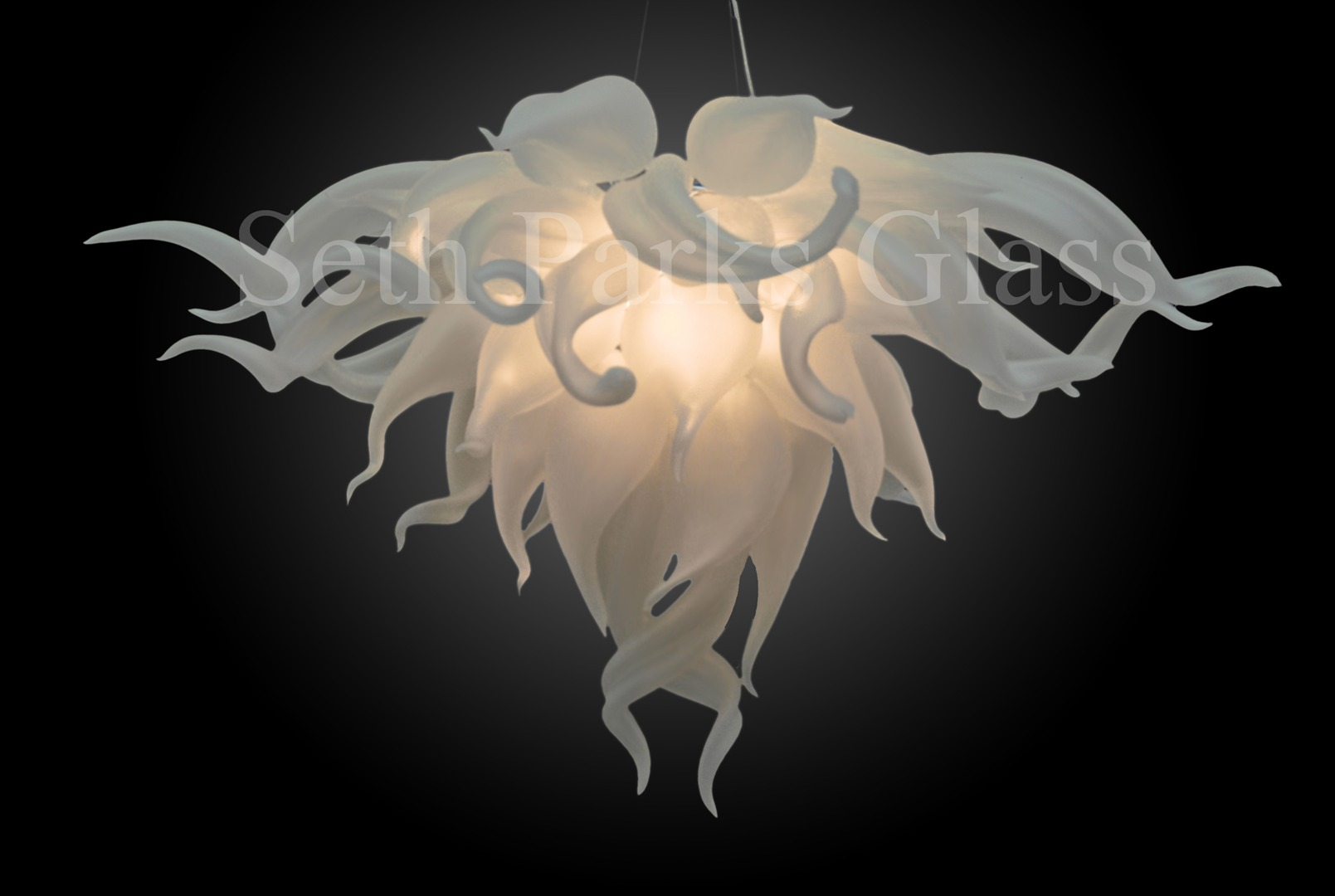 Seth Parks Glass Blown Chandelier
