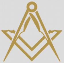 Cross Stitch Chart Pattern of Freemasons Simple Graphic Logo