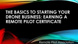 starting a drone business, making money with your drone, remote pilot certificate