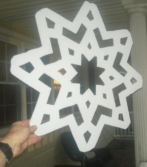 How to make weatherproof large snowflake Christmas decorations. www.DIYeasycrafts.com