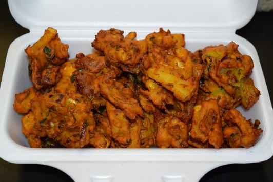 Vancouver Indian Food, Mixed Vegetable Pakoras, Indian Village Eatery