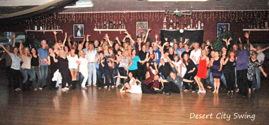 Members of the swing dance club in Phoenix, AZ