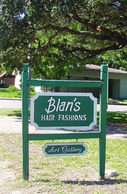 The original sign at Blan's House, furnished, short-term, corporate-rentals in Victoria, TX.