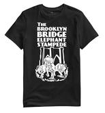 Brooklyn Bridge Elephant Stampede Monument T-Shirt - Black