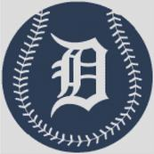 Cross Stitch Chart pattern of the Detroit Tigers
