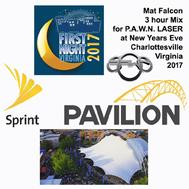 Mat Falcon / P.A.W.N. LASER 3 hour Dance Music Mix @ Sprint Pavilion New Years Eve Charlottesville Virginia 2017