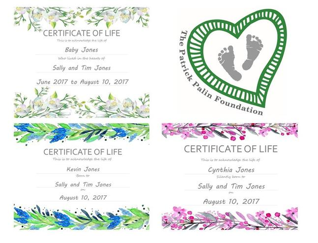 certificates of life are emailed within 48 hours in a pdf format prints are 85x11 inches they can easily be printed at home or by a local printer