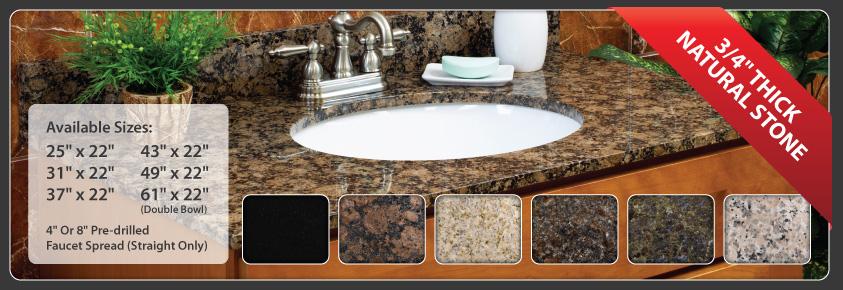 vanity cabinet granite cecilia bowl single barn giallo products hole x top