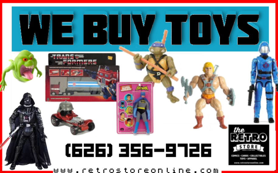 Sell Toys, Comics, Sports Cards, Records, Posters
