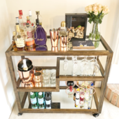 rustic-chic bar cart | GPCurtis