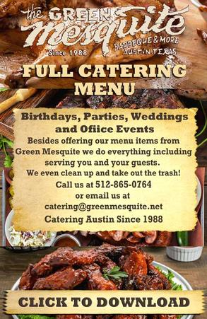 Catering Menu download