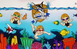 swimming club mural