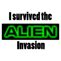 I Survived The Alien Invasion Sticker