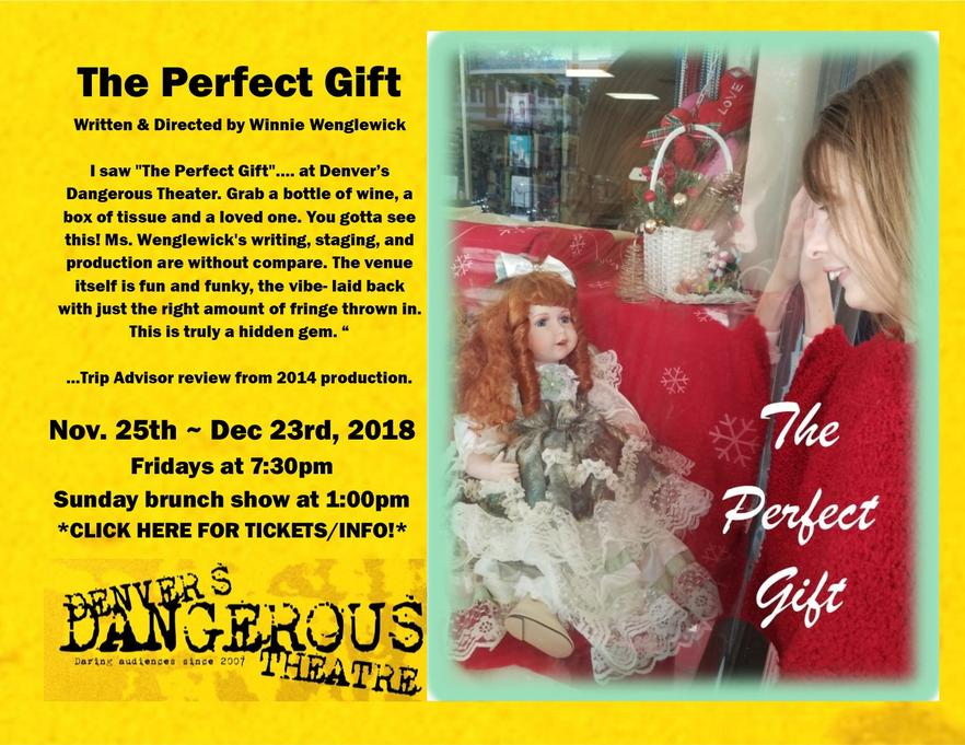Dangerous Theatre ticketing link for The Perfect Gift