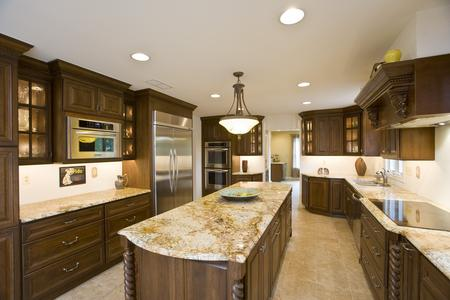 Traditional kitchen with granite counter