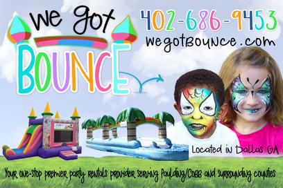 We Got Bounce - inflatables and face painting in Paulding County GA