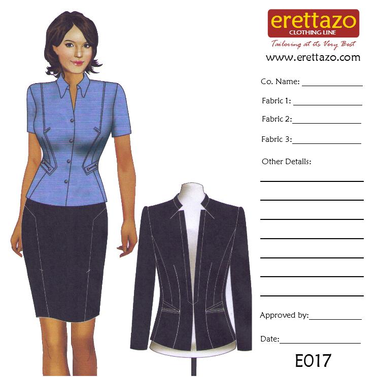 erettazo sketches designs corporate office uniforms supply