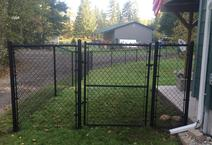 Chain link fence built by All American Fence company and fence contractor