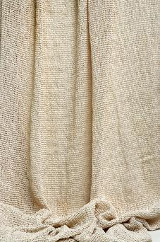 Chimmey Oyster/Umber Knit Irish Linen