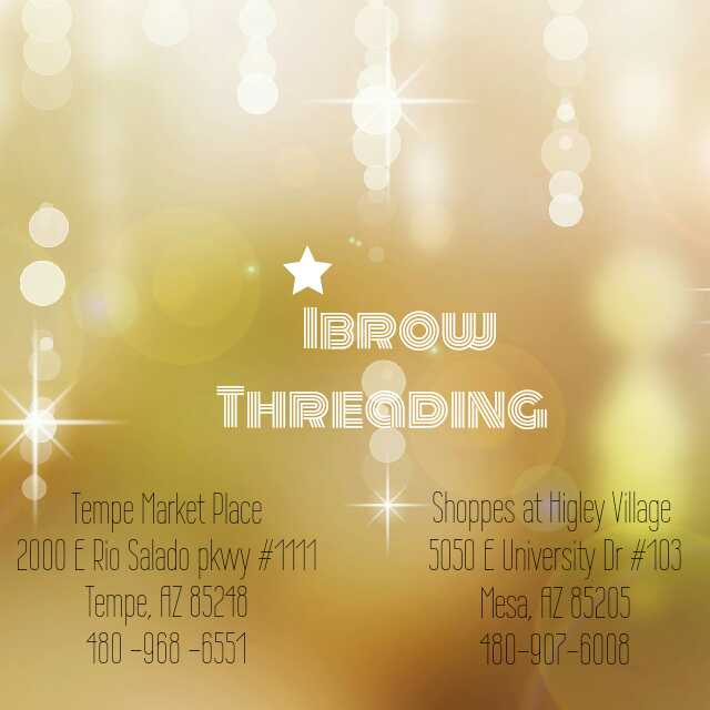 Ibrow Threading Facial Hair Removal Threading Brow Threading