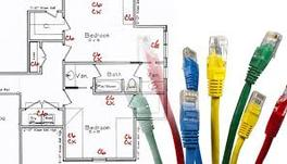 Residential network cable installation