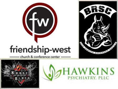 Friendship-West Baptist Church, Black Rino, House of Blues Dallas, Hawkins Psychiatry