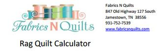 Free Rag Quilt Calculator