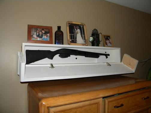DIY Secret Floating Shelf Gun Safe