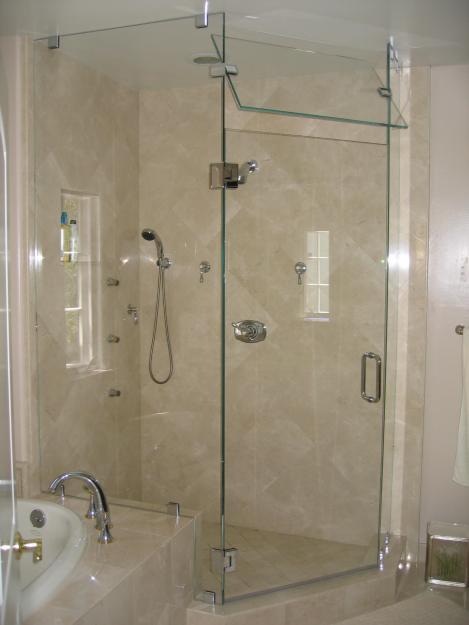zeana glass   in san jose, ca  frameless shower door, Bathroom decor
