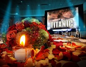 Party Titanic Theme Miami Quince Photography Video Stage decoration Centerpieces Titanic Themed