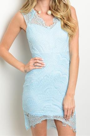 Lacy Blue Dress