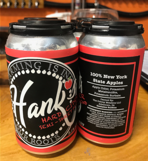 Cans of Hank's Hard Cider