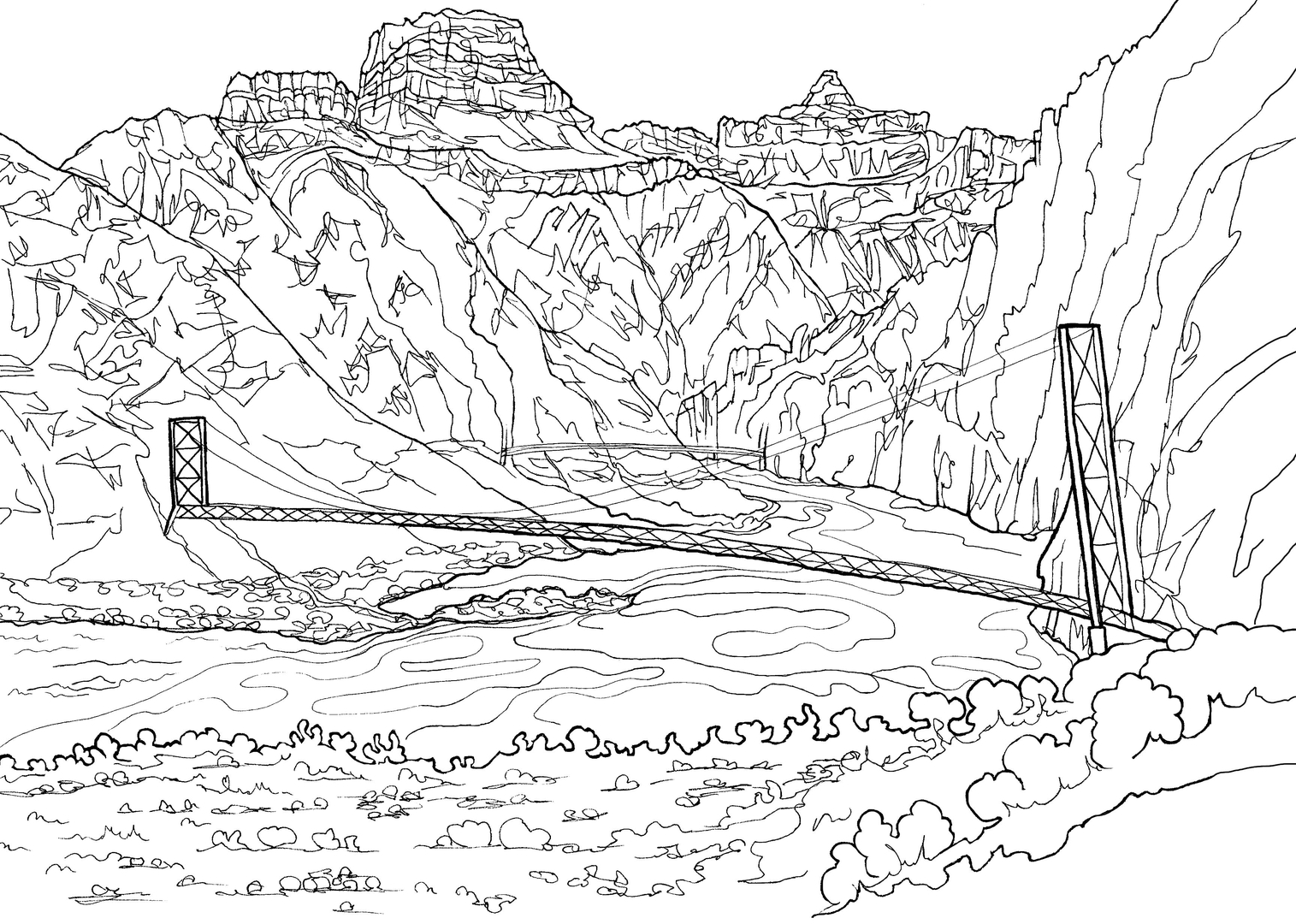Grand Canyon A Classy Coloring Book sold on Amazon
