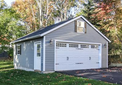 shed traditional on garages intended for site garage built amish and with