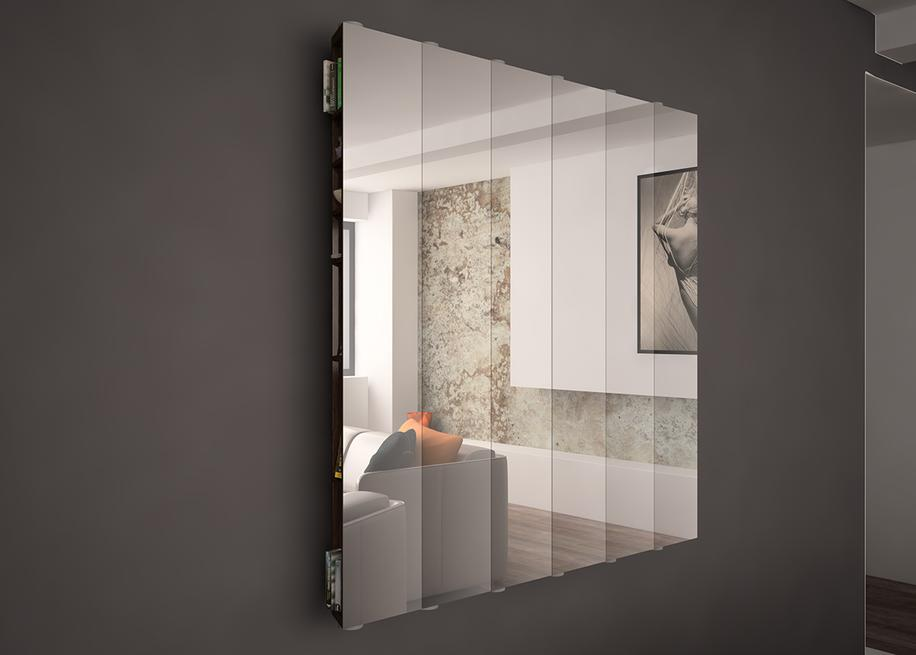 MIRROR MOVIE SPECCHIO SVUOTA TASCHE LIVING INTERIORDESIGN MODELLAZIONE 3D MODEL PROJECT DESIGN107