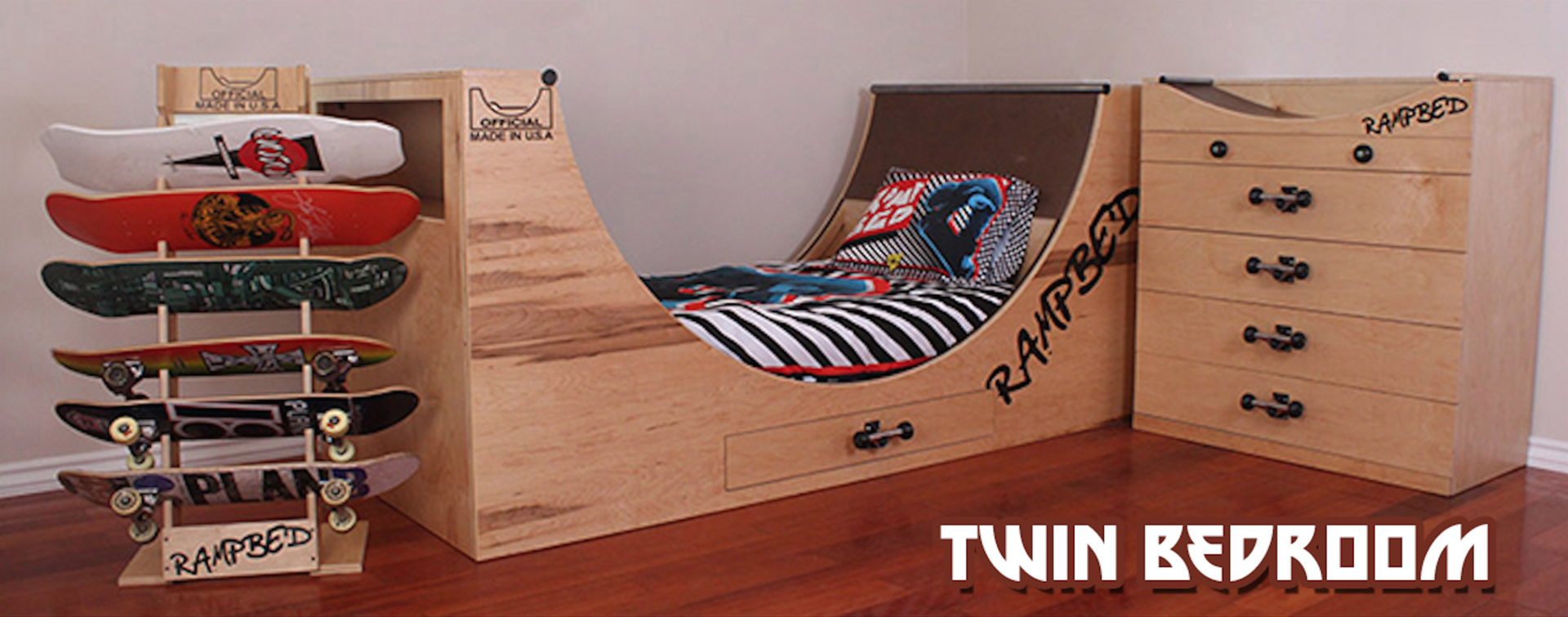 related images. Skateboard bed/room