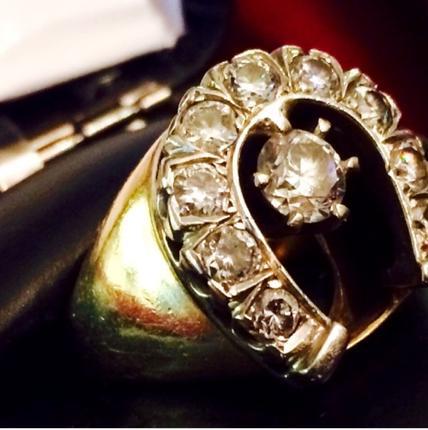 Elvis Horseshoe Ring Silver