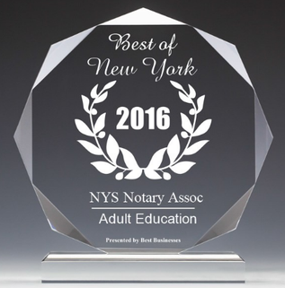 Best NY State Notary Classes seminars online award 2016