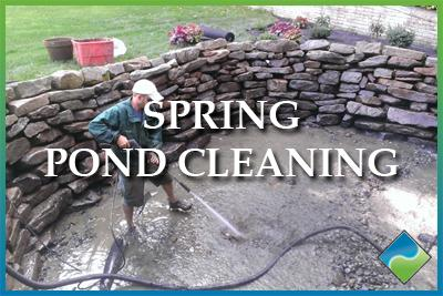 Aquatic Edge Pond & Landscape Solutions - Spring Pond Cleaning