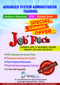Hardware and Networking Training in chennai with job Placement