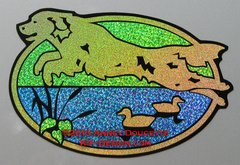 "Golden Retriever ""Scrabble"" 9"" Oval Hunting Magnet"