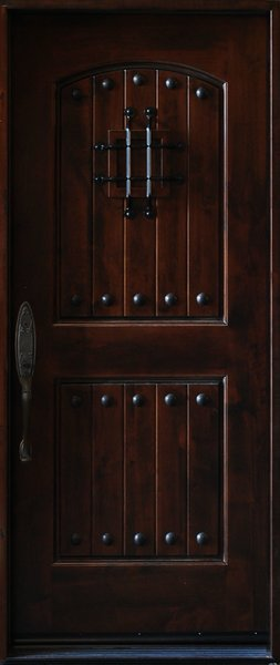 Quality natural wood exterior entry door cheapest price for Natural wood front door
