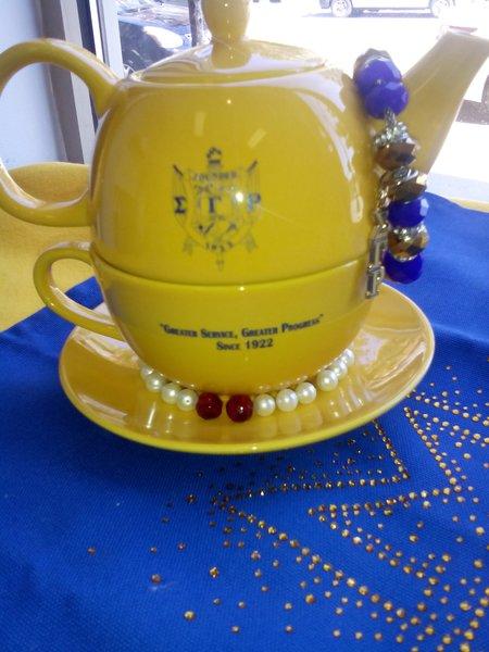 Sigma Gamma Rho Tea Gold For One Set Sorority Greek
