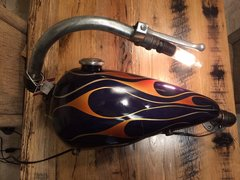 Purple Flame Motorcycle Wall Light
