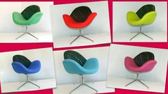 Designer Scoop Winged Chairs in Various Colours