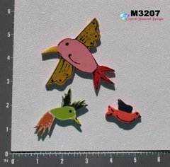 3 Assorted Birds Handmade Mosaic Ceramic Tiles For your Mosaic Projects M3207