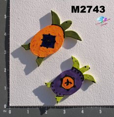 2 Assorted Turtles Handmade Mosaic Tiles M2742