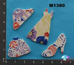 Assorted Clothing -  Handmade Ceramic Mosaic Tiles for your Projects M1380