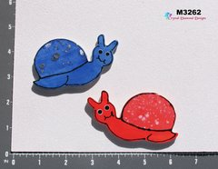 2 Snails Handmade Mosaic Ceramic Tiles For your Projects M3262